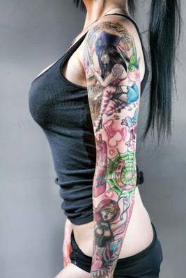 Girl Sleeve Tattoos