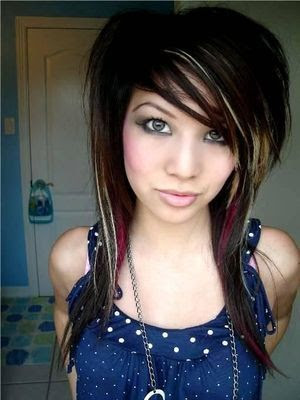 Black And Red Hairstyle. Scene Hairstyles The