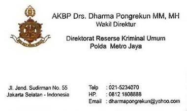 Polisi Baik dan Lurus, Dharma Pongrekun