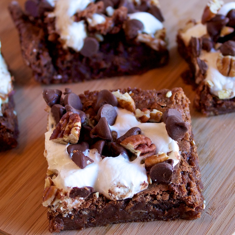 Rocky Road Brownies   Our Family Eats