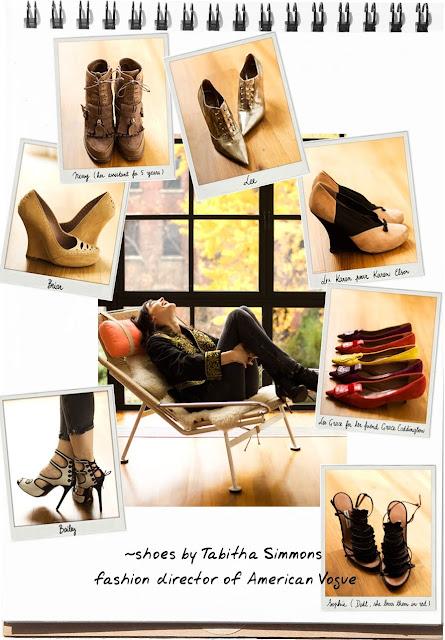 """<span class='fancyPhotoDesc'></span><span class='fancyPhotoName'>Necklace, Dolce & Gabbana </span>#inline_24″ height=""""640″ src=""""http://thecoveteur.com/gallery/Tabitha_Simmons/Tabitha_Simmons-27-full.jpg"""" width=""""564″></div> <div></div> <div>Esta lifestyle fashion é de <b>Tabitha Simmoons</b> …</div> <div>Estilista, design de sapatos em NY.</div> <div></div> <div><img height="""