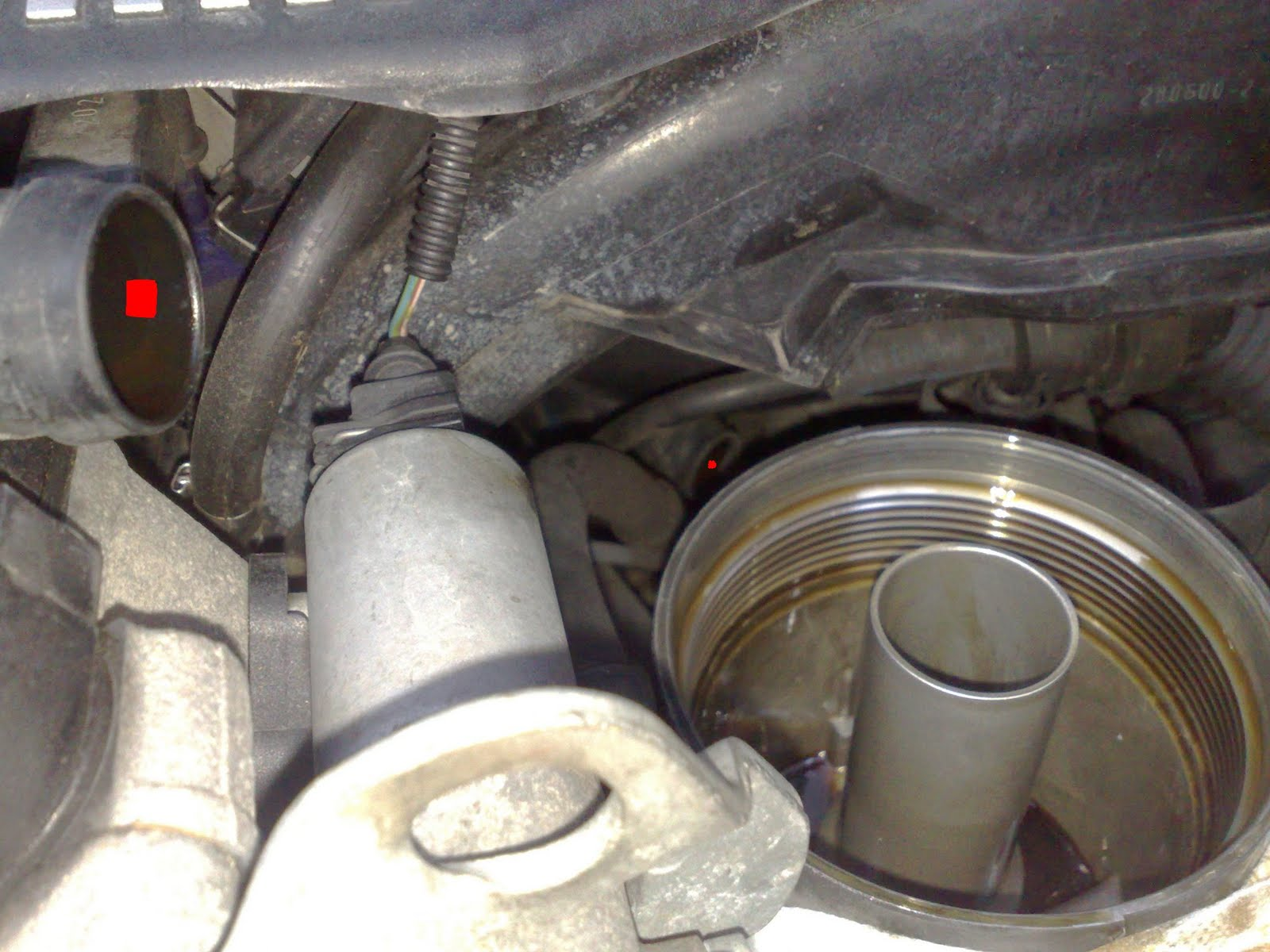 BMW E46 330Ci  Replacing crankcase ventilation pipe
