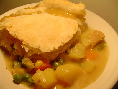 ... on the weekend. But, chickpeas are also very good in this pot pie