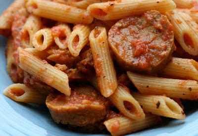 Penne With White Bean And Tomato Sauce Recipe — Dishmaps