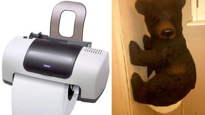 Creative and funny toilet paper holders interior design Funny toilet paper holders