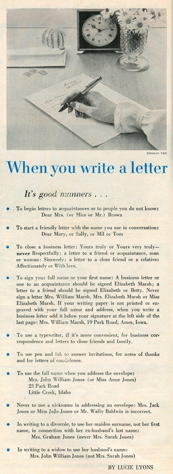 how u write a letter