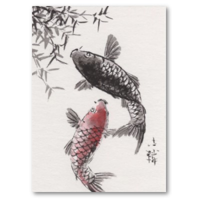 Chinese koi illustrations bing images koi gold fish for Chinese koi fish