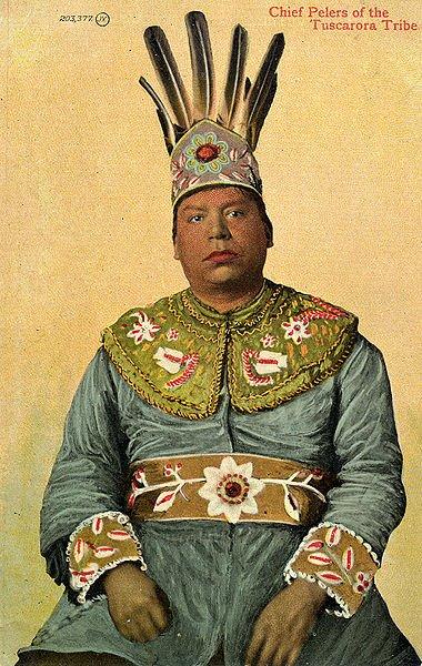 IROKEZI ( Iroquois) indijanci  380px-Chief_pelers_tuscarora_tribe