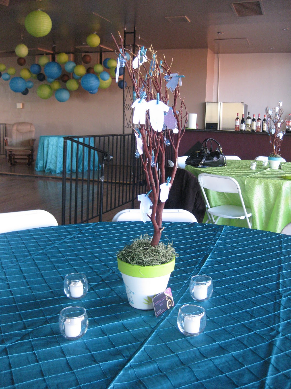 Party Planning at Your Liking: Apple Green & Turquoise Baby Shower