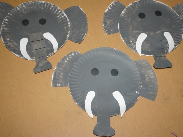 Letter e elephants blessings overflowing for E crafts for preschoolers