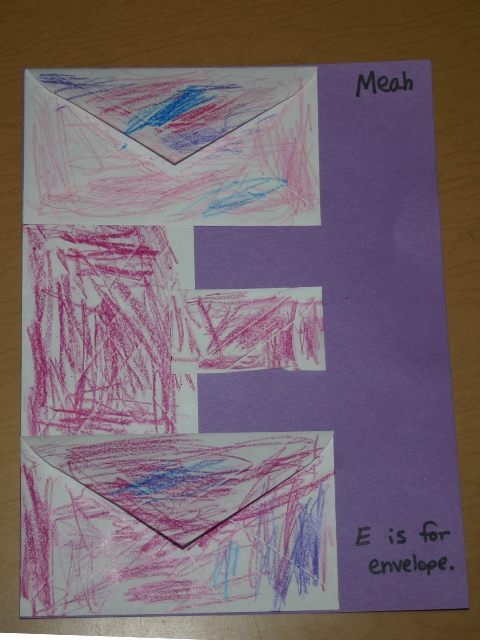 Letter e envelopes blessings overflowing after reading the book i gave the children three regular sized envelopes and one fourth of an envelope i asked the children to color the backs of two of solutioingenieria Images
