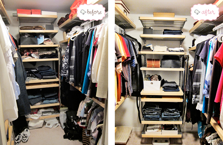 Before U0026 After: Closet Cleaning