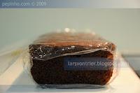 Cake de chocolate, almendra y caramelo a la miel