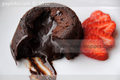 Fondant de chocolate, canela y pimentn picante de la Vera (o cayena)