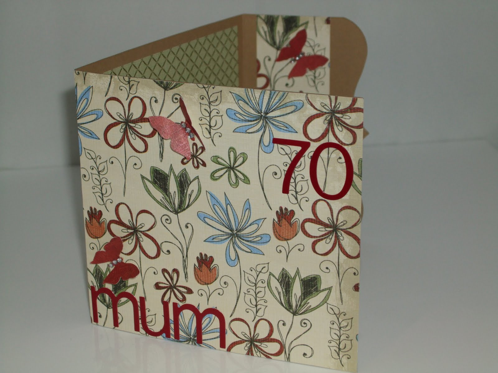 Mum 70th Birthday Card Using Papermania Hampstead