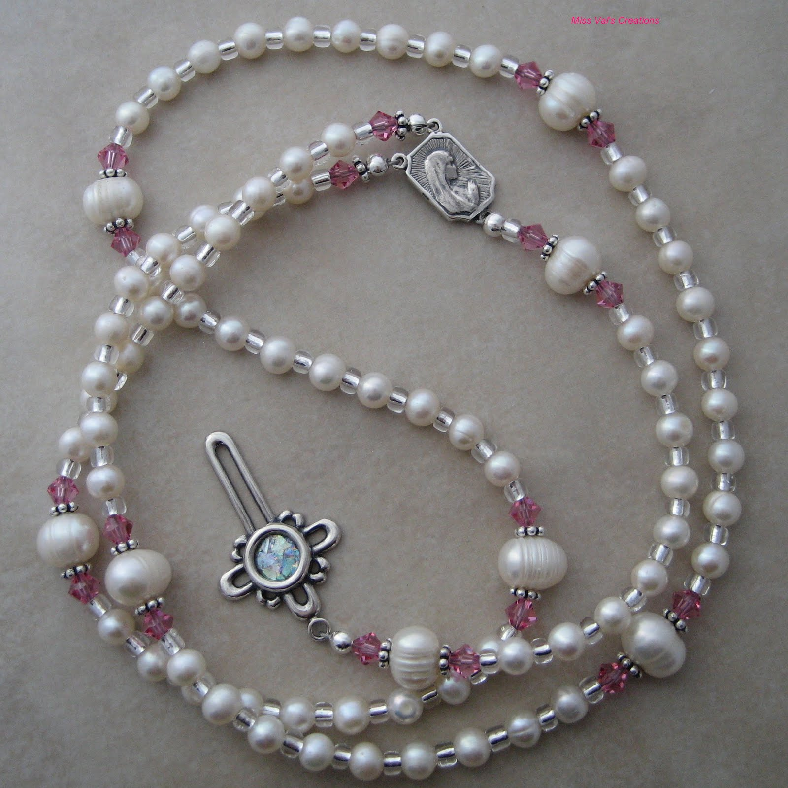 Miss val s creations my first rosary beads
