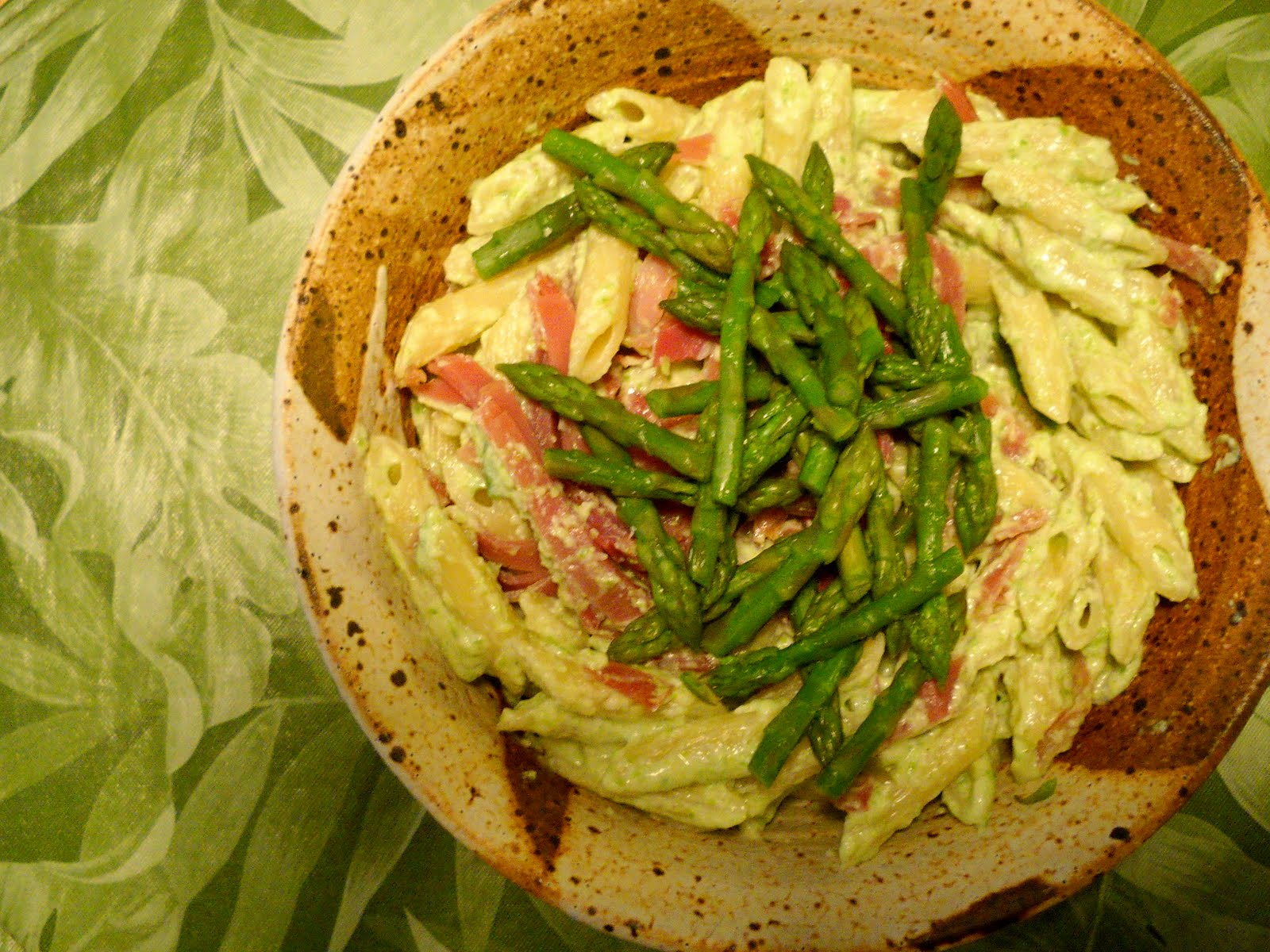 riccotta con asparagi penne with ricotta and asparagus without ...