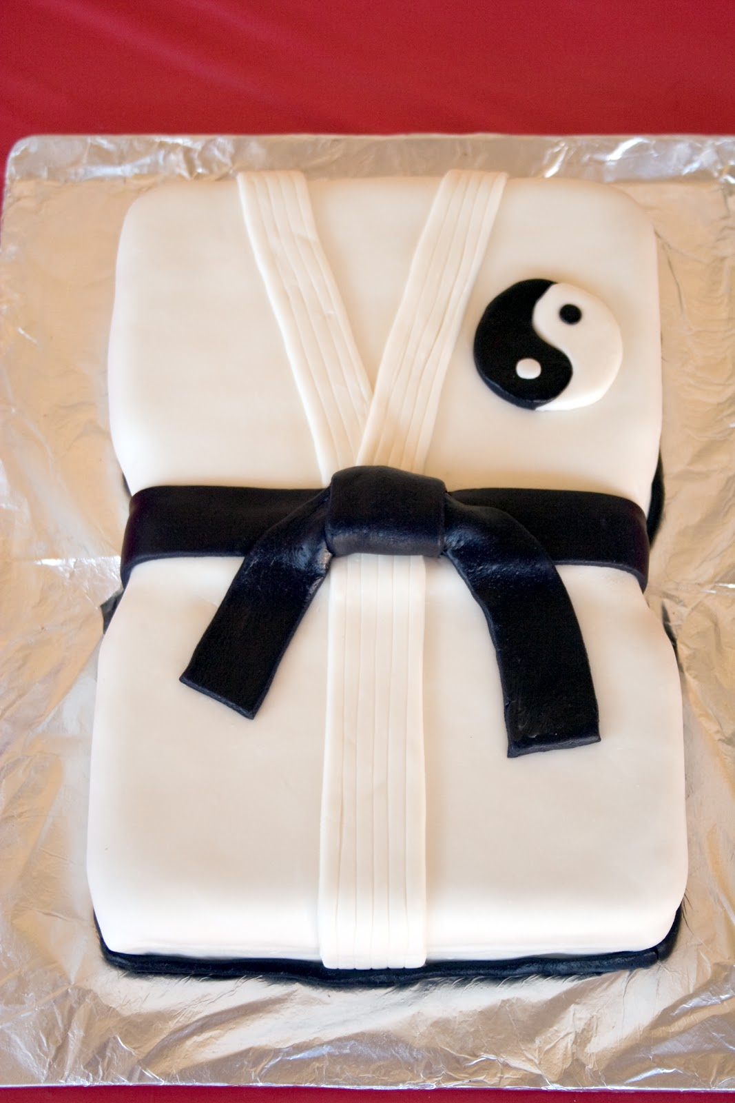 Karate Black Belt Cake Happy Birthday