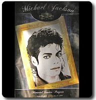 Michael Jackson Memorial Booklet Photos