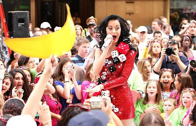 Katy Perry performs Rolls The Dice at Rockefeller Plaza