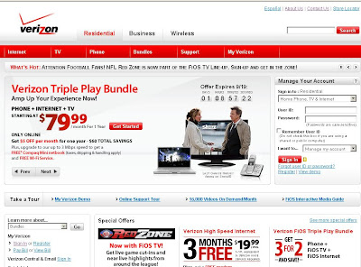 verizon home page - www.verizon.com