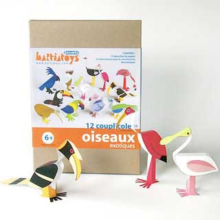 Exotic Bird Papercraft
