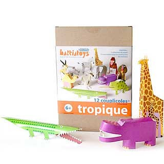 Tropical Animal Papercraft