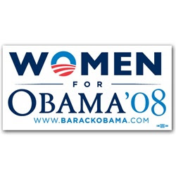 Women for Obama Sticker