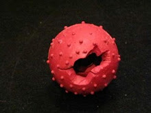 TOY RECALL!Pimple Ball with Bell by Four Paws