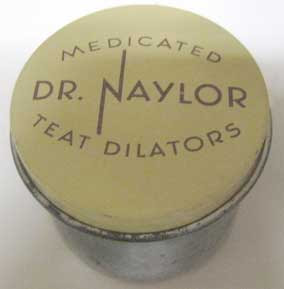 Small can labeled Teat Dilator