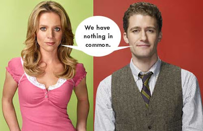 Teacher Will Schuester and his wife, sharing a speech balloon reading We have nothing in common