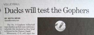 Headline: Ducks will test the Gophers