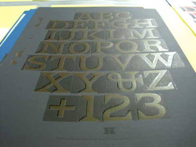 Printed alphabet of the Carter font