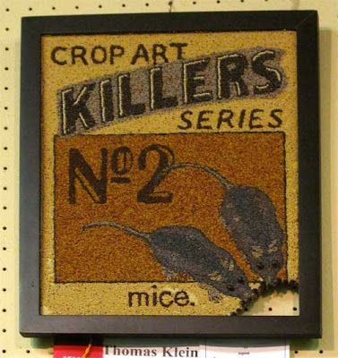 Crop Art Killers #2, with two mice chewing the corner of the picture away