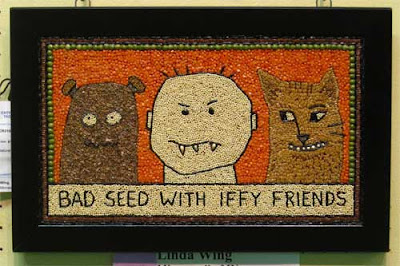 Cartoon of cat, bear and human labeled Bad seed with iffy friends