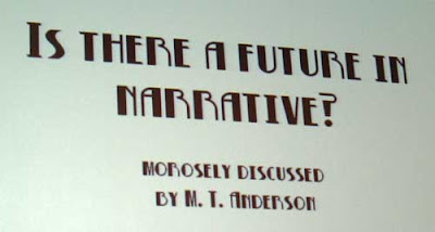The Future of Narrative title slide by MT Anderson