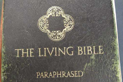 Coverof a brown Living Bible - Paraphrased