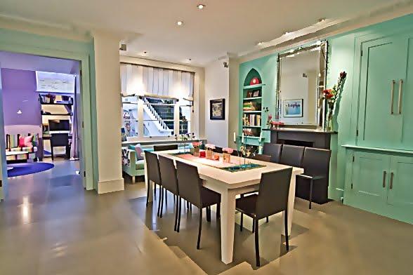 Large and Colouful House on Portland Road in London 6 - Renkli Ya�am Alanlar� Sevenler ��in Rengarenk D��enmi� Bir Ev