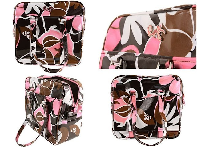 Roxy shoes Jamboree Carry On Bag  Brown Light Pink  010601 tile - Roxy 2011 Bayan �anta Modelleri