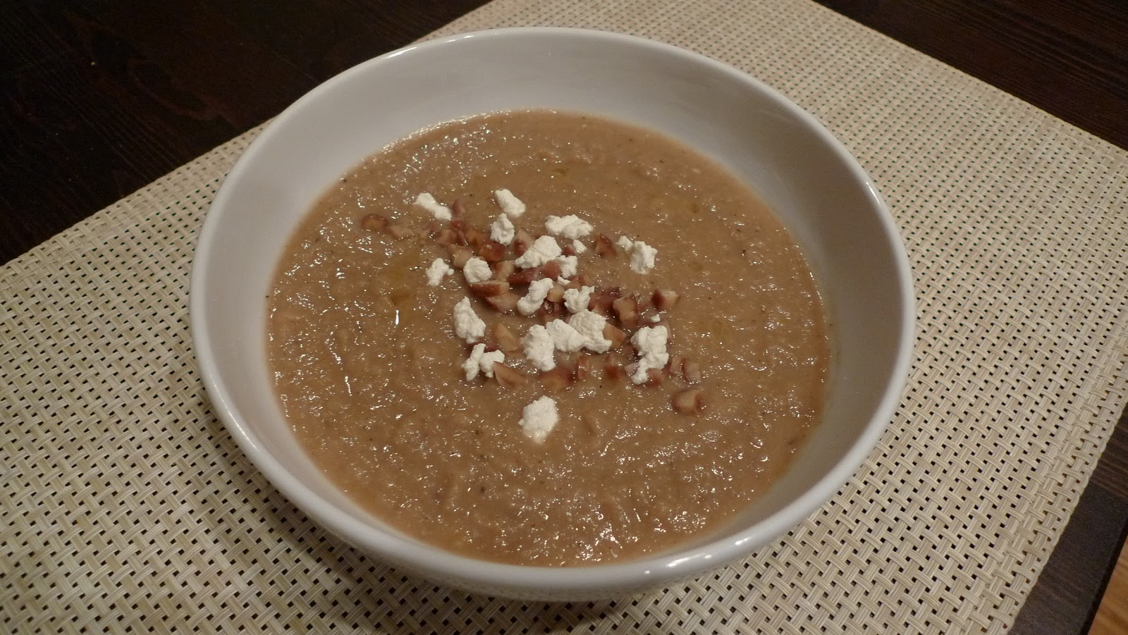 Mingling of Tastes: Chestnut, Celery Root and Pear Soup