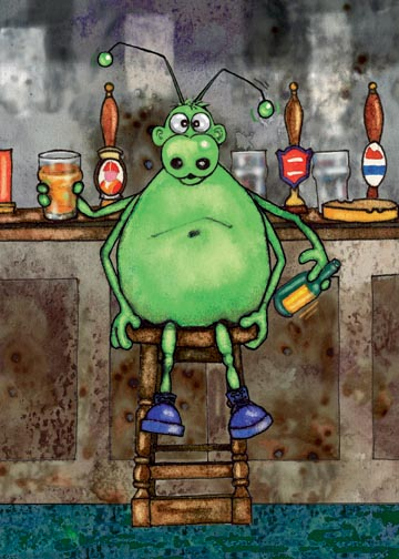 Billy Beetle at the bar...