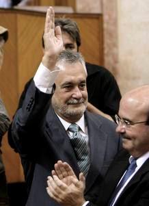 Fotografia de Jose Antonio Griñan, el día de su investidura como Presidente a de la Junta de Andalucía