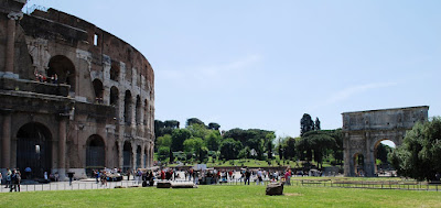 Colosseum and Trajan's Arch