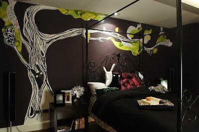 Fotos y dise o de dormitorios todos los estilos singular Murales para recamaras matrimoniales