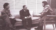 """Ernesto """"Che"""" Guevara, con Jean Paul Sartre y Simone de Beauvoir"""