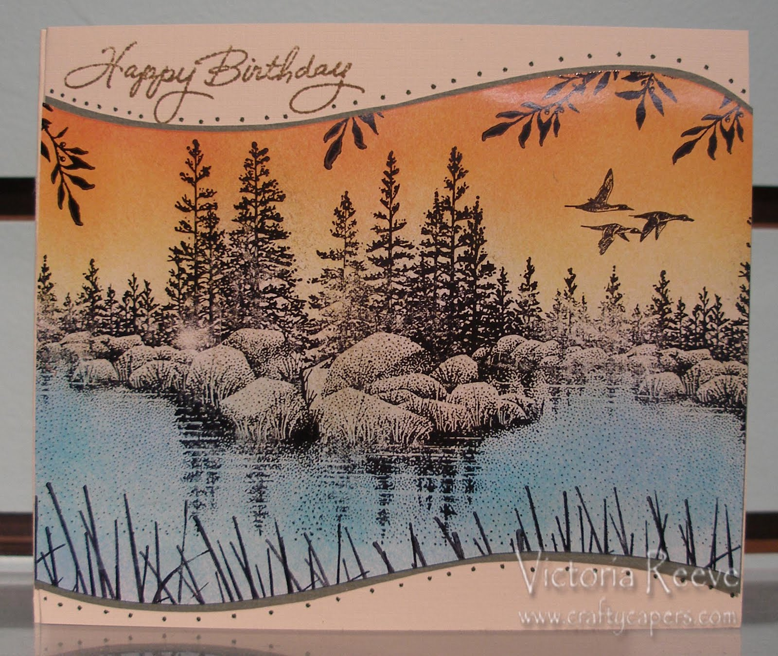 Crafty Capers Rubber Stamps A Manly birthday card – Manly Birthday Cards