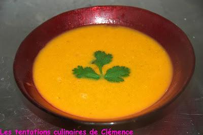 Soupe de potiron lentilles corail coco et curry les - Soupe potiron lait de coco curry ...