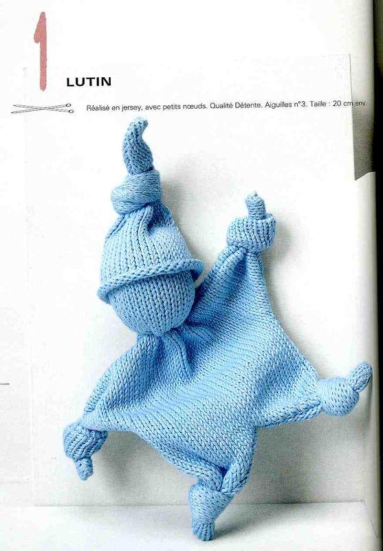 modele tricot doudou lutin