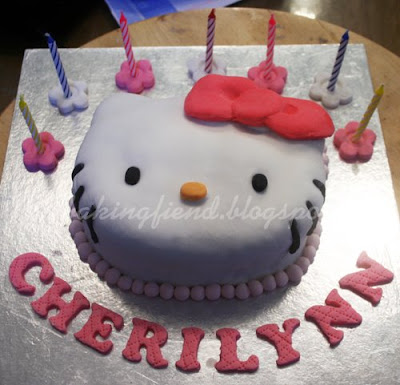 This year, I decided to do a Hello Kitty cake. Initially I had wanted to do