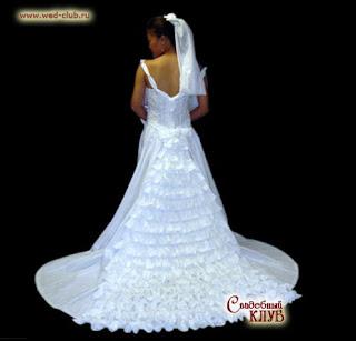 Весільна сукня з туалетного паперу